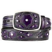 AA511 Purple color shade Original Eel Skin Fashion Western