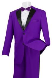 SD54X Stylish 2 Button Style Black and Purple Tuxedo