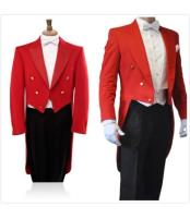 JSM-404 Mens Red/Black 3 Piece Tail Tuxedo Formal Wedding