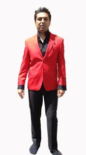 HU5T Stylish Sportcoat/ Blazer Online Sale in Hot red