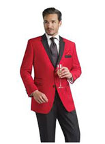 Mens Red Suit color shade