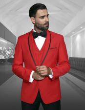 JSM-876 Mens Fashion Tux by STATEMENT Red