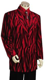 CB6289 Entertainer red color shade Velvet Cool Sparkly Zebra