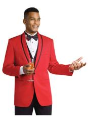 SD208 Mens Formal Attire Dinner Jacket Red Tuxedo Suit