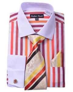 Product#SM499redcolorshadeUniqueStripeFashionShirtTie