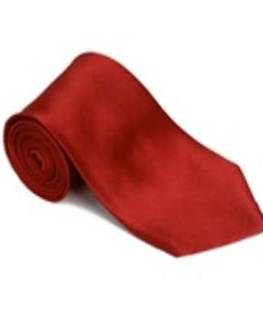CU866 Lipstickred 100% Silk Solid Necktie With Handkerchief