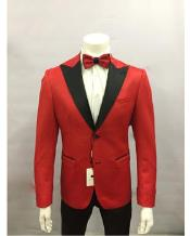 Red and Black Lapel Tuxedo