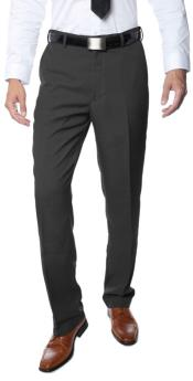 RM1119 Premium Regular Fit Flat Front Dress Pants Dark