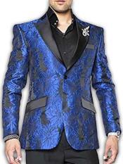 Product# JSM-2870 Mens 2 Button Blue