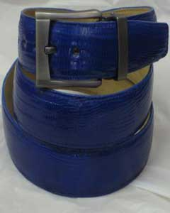 AC-871 Genuine Authentic royal blue pastel color Lizard Belt