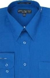 PS172 royal blue pastel color Dress Shirt