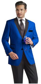 RYB682 Two Toned Royal Light Blue Two Button Mens