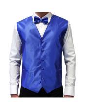 White Shirt & Royal Blue