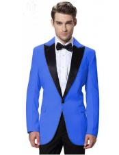 CH2253 Mens Royal Blue Suit For Men Perfect