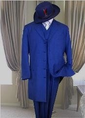 ZRBF Classic Long Royal Blue Suit For Men Perfect