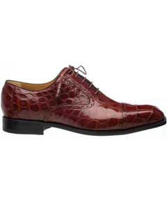 SM757 Ferrini Cap Toe Alligator skin Belly Skin Italian