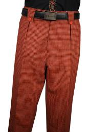 Veronesi Rust Plaid Wool