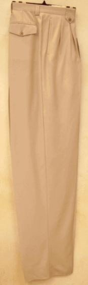 SN831 long rise big leg slacks Sand Wide Leg