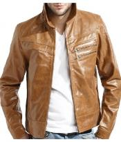 PN84 Liquid Jet Black Leather Zip Front Jacket -