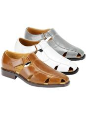 JSM-3269 Mens Sandal Available in Black Gray Ivory Natural