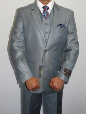 Three Piece Vested Suit Shinny