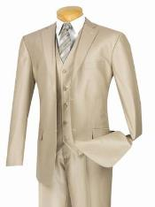 KL12Z Modern Gloss Shiny Flashy Sharkskin MetallicSuit champagne
