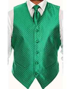 KG5532 Four-piece Green Vest Set