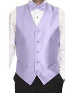 RF4520 Lavender Patterned 4-piece Vest Set