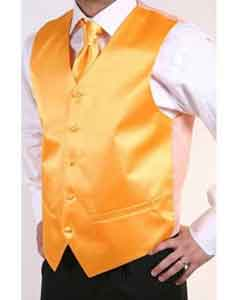 BX6599 Orange 2-piece Vest Set