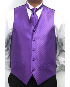 Four-piece Vest Set Purple color