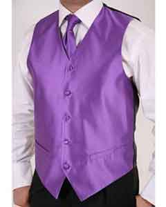 GK7845 Purple color shade 2-piece Vest Set