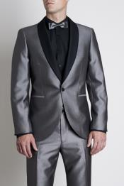 Silver Tonic Dress Suit with