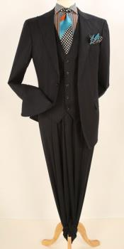 RM1450 Apollo King Single Breasted Fashion Suit Black