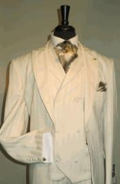 Product# AC-744 Suit Single Breasted Two Covered Button Suit