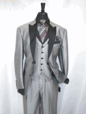 RA32 Single Breasted Peak Sateen Lapel Two Toned 1920s