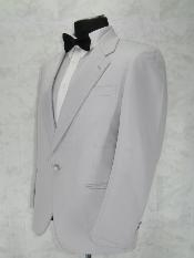 T111 Single Breasted Notch Lapel White 1 Button Style
