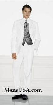 TM72 Single Breasted EXTRA FINE HAND MADE White Tuxedo