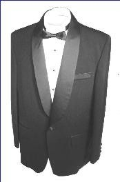 SH712 Liquid Jet Black single button shawl collar formal