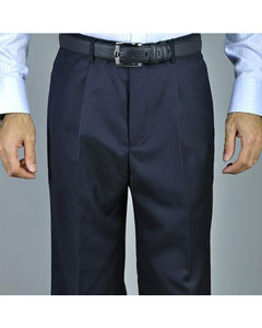KA8885 Navy Blue Shade Single Pleat Pants