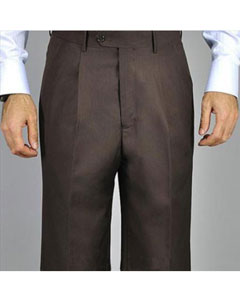 KA8882 brown color shade Single Pleat Pants
