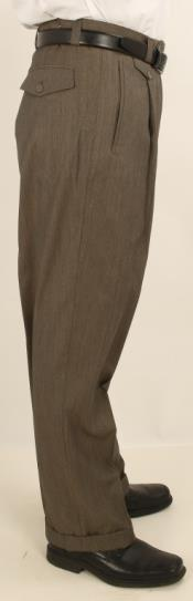 AV20 Wide Leg Single Pleated Slacks Pants 1920s 40s
