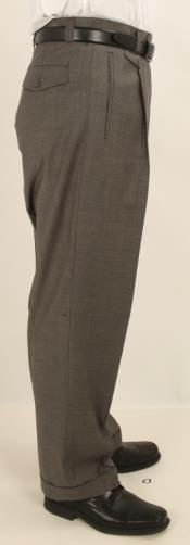 Wide Leg Single Pleated Slacks