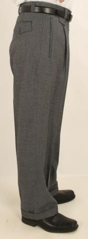 Wide Leg Single Pleated 1920s
