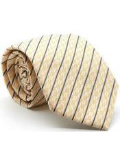 MK203 Premium Single Striped Ties Yellow
