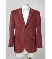 Product#SM621MaroonTwoButtonBlazerOnlineSaleNotchLapel