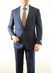 AC-215 Two Piece Slim narrow Style Fit Suit Blue