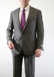 AC-219 Two Piece Slim narrow Style Fit Suit Slate