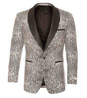 JSM-1030 Black / White Silver Tuxedo Ostrich looking Modern