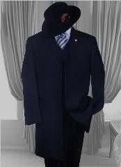 Solid NAVY SUIT 3PC