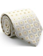 Premium Square Pattern Ties White